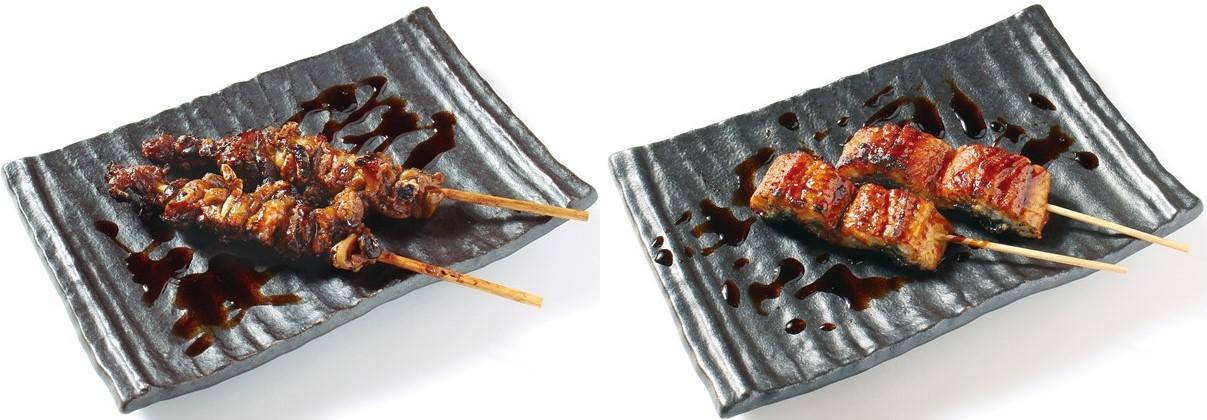 肝串(左)、宇奈串(右) ※写真はイメージです。