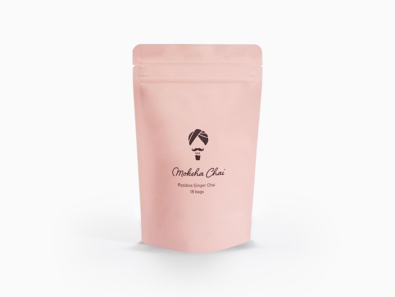 ピンクのパッケージのティーバッグ