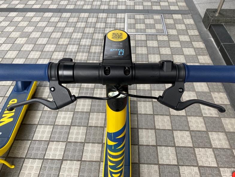 片手レバー式から両手用自転車式に改良したブレーキ
