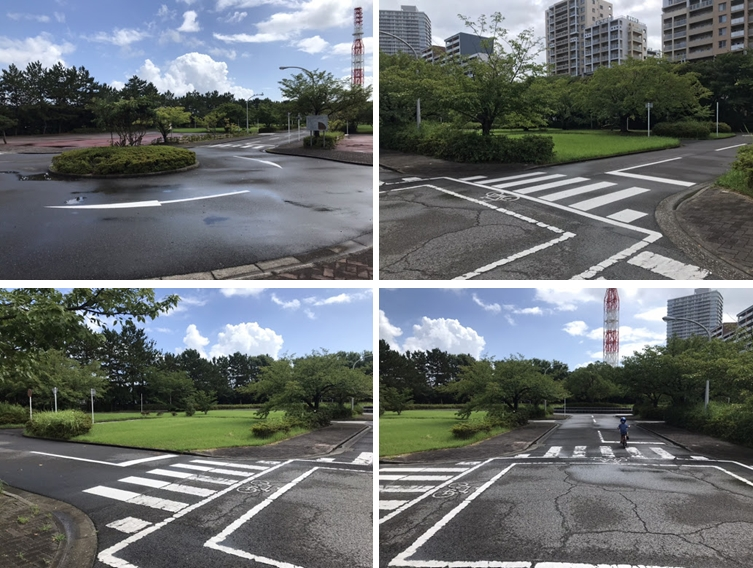 花見川緑地公園:交通ルールと運転マナーを楽しく身につけていただくための交通安全教育施設です。