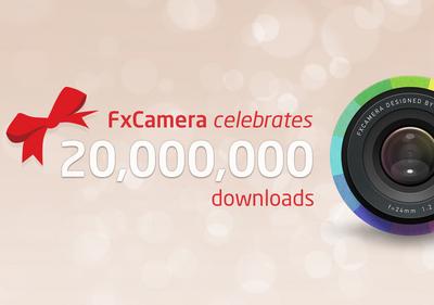 無料Androidカメラアプリ「FxCamera」、世界2000万ダウンロードを達成