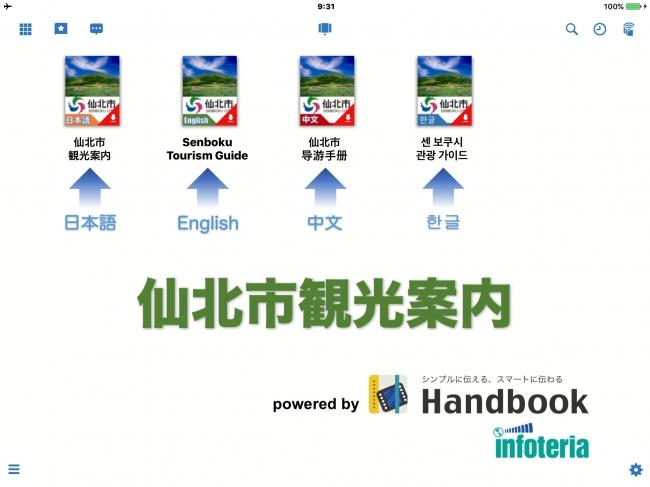 タブレット画面(言語選択)