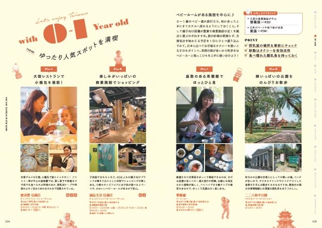 0歳~7歳以上までを4つのカテゴリーに分け、各年齢に合った台湾の楽しみ方を伝授!