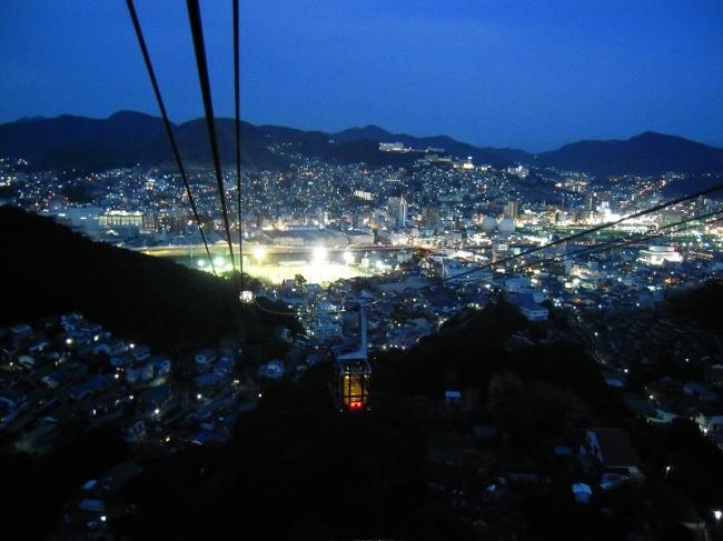 長崎ロープウェイから見た夜景