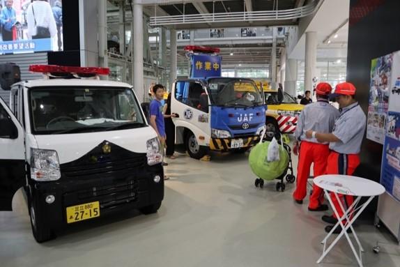 働く車展示