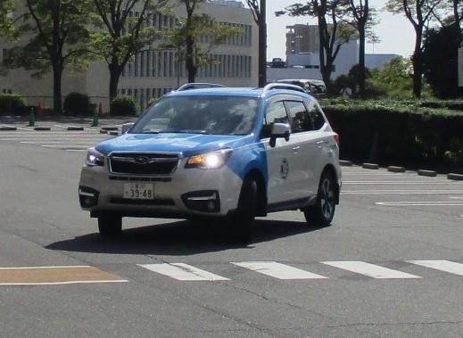 パレードに参加するJAFロードサービスカー