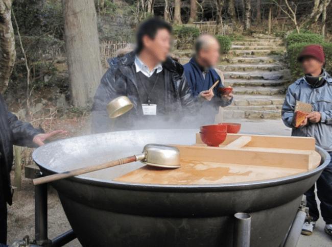 金剛輪寺 名物「厄除けかぶら汁」ふるまいのイメージ