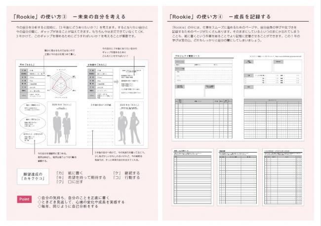 新入社員手帳「Rookie」の使い方2