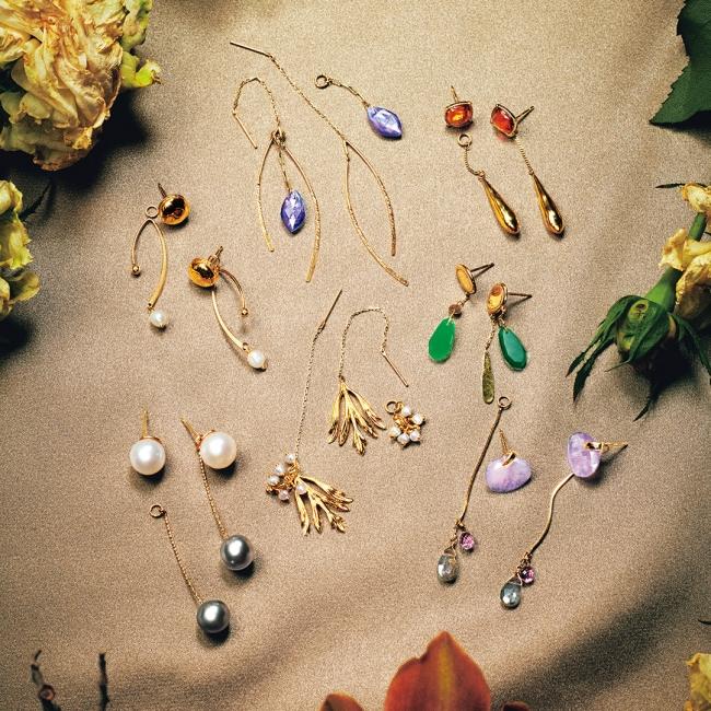 pierced earrings 15,000yen~ charm 14,000yen~