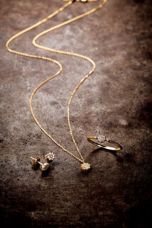 from left pierced earrings 45,000yen neck lace 53,000yen ring 45,000yen K18 and diamond