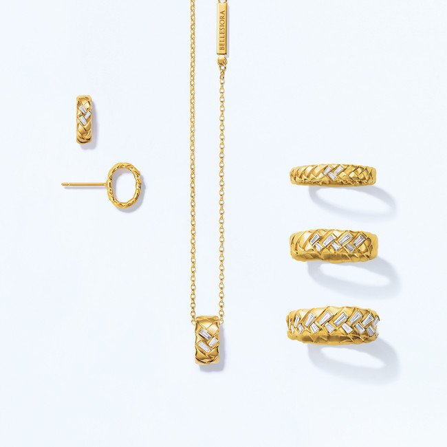 pierced earrings 120,000yen necklace 170,000yen ring 120,000yen 190,000yen 420,000yen K18YG diamond