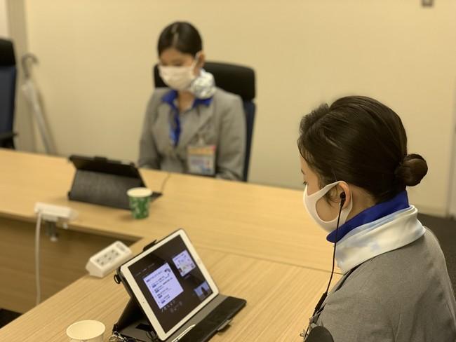 オンライン快眠セミナーを受講するANAエアポートサービス従業員の方々