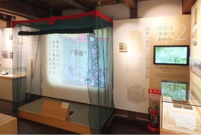 近江蚊帳展示内のプロジェクションマッピング (写真はイメージ)