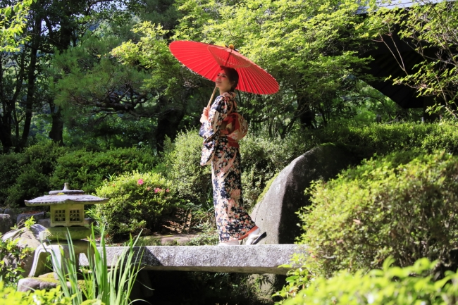 1500坪もの日本庭園