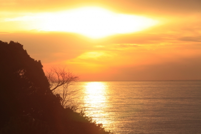 西伊豆の絶景の夕日