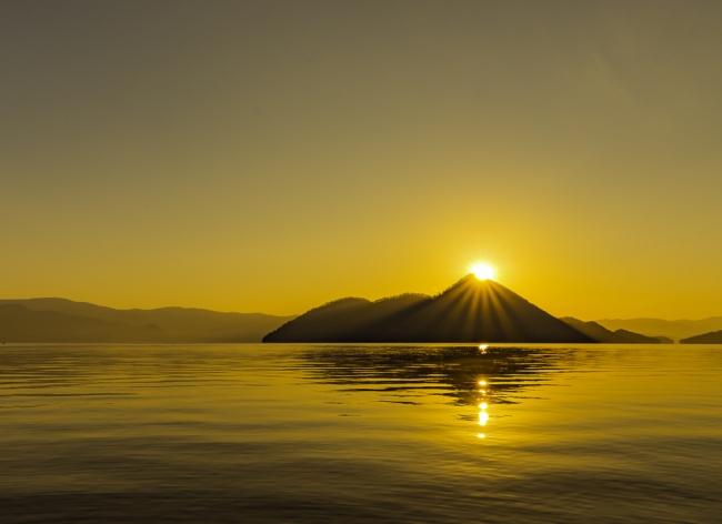 美しい洞爺湖の景色