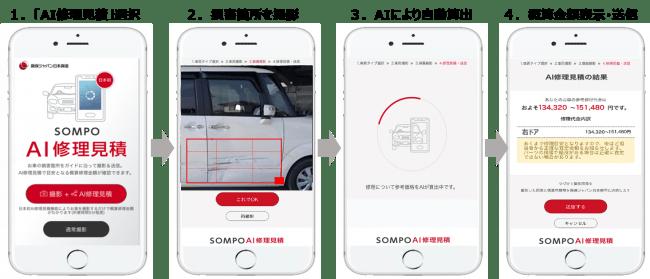 『SOMPO AI修理見積』利用イメージ