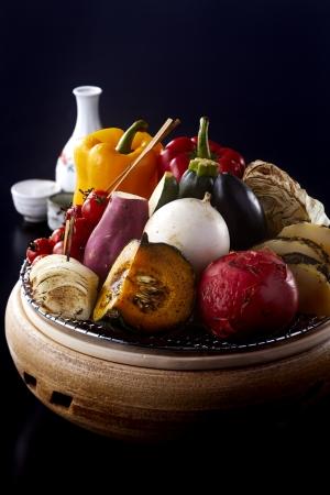 七輪盛り焼き野菜7種(日本料理 こよみ)