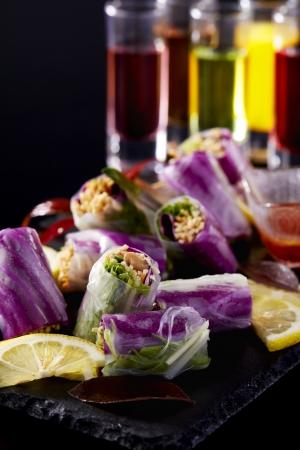 野菜と干し豆腐の生春巻き(中国料理 麗花)