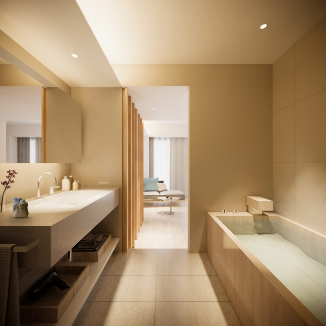 プレミアダブルベッドルーム〈檜風呂付〉