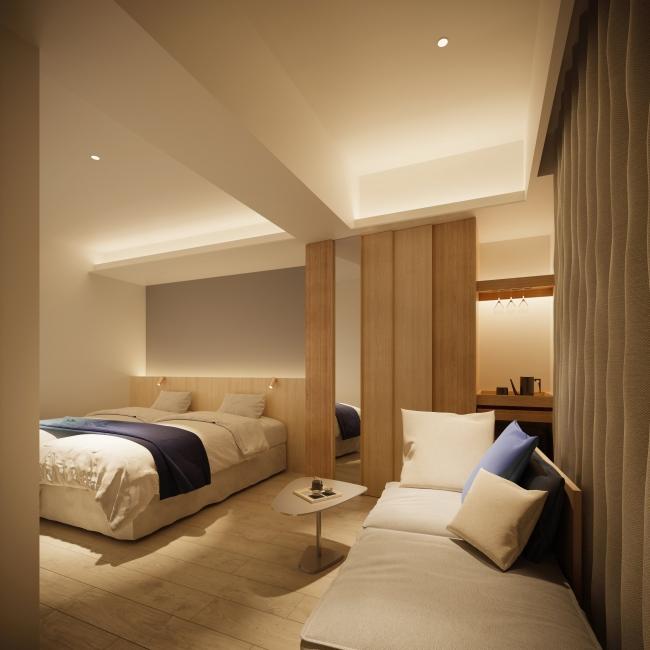 プレミアツインベッドルーム〈檜風呂付〉
