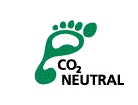 CO2ニュートラル認定を訴求する 「フットプリント(足跡)ロゴ」
