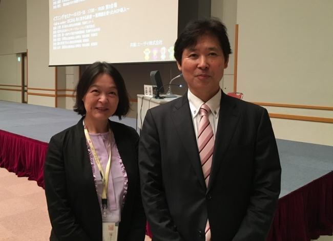 左より、筑波大学医学医療系 乳腺甲状腺内分泌外科 准教授の坂東 裕子先生、 大分大学医学部 消化器・小児外科学講座 教授の猪股 雅史先生