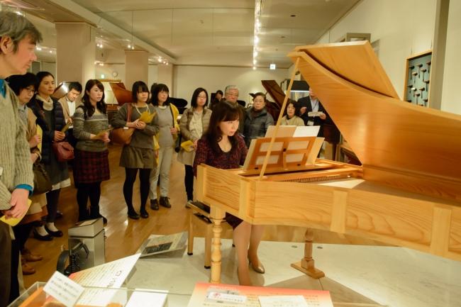 浜松市楽器博物館でフォルテピアノの聴き比べ