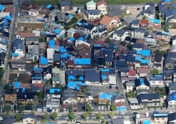 上空からの様子(倉吉市)