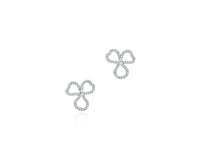 ティファニー ペーパーフラワー ダイヤモンド オープン フラワー ピアス(ミニ)[プラチナ、ダイヤモンド]¥555,000(税別)