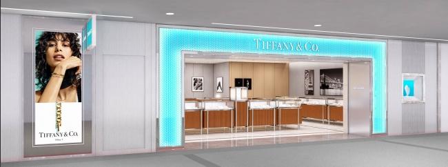 ティファニー成田国際空港第1ターミナル南ウイング店 ファサード 完成予想図