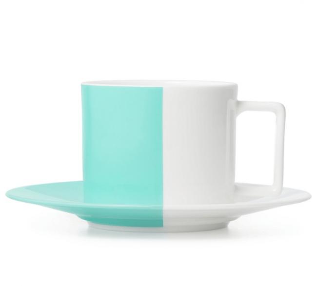 カラーブロック ティーカップ & ソーサー 10,500円(税別)