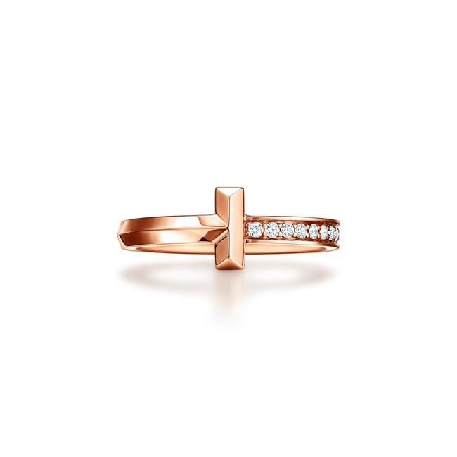 T ワン ナロー ダイヤモンド リング 18Kローズゴールド ¥196,00-(税別)