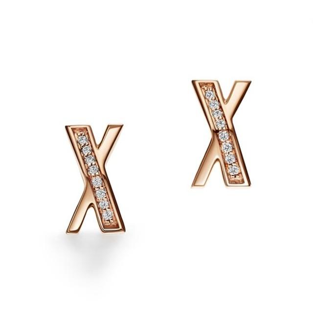 ティファニー アトラス X ピアス 18Kローズゴールド ダイヤモンド ¥148,500(税込)