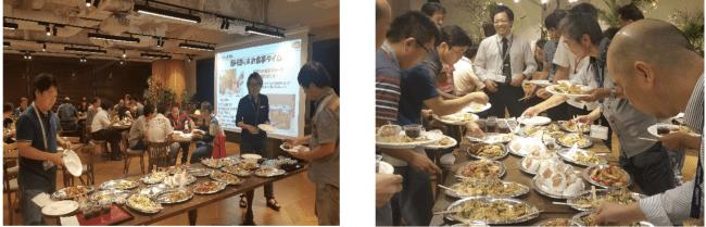 ▲バンダイナムコセブンズにて、CaSyによる手作り料理を提供している様子