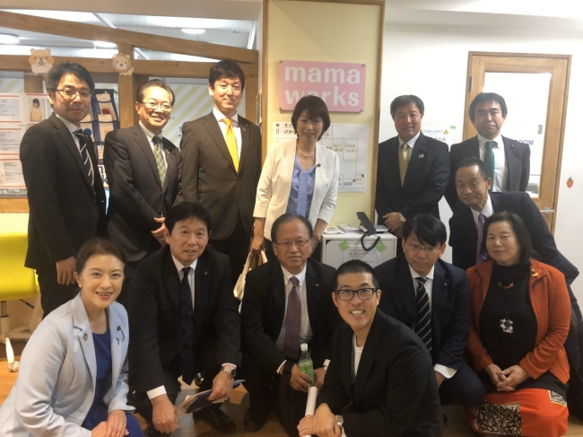 現場視察に来られた滋賀県議会議員の皆様
