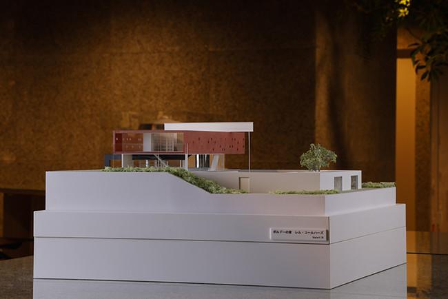 建築模型(ボルドーの家)