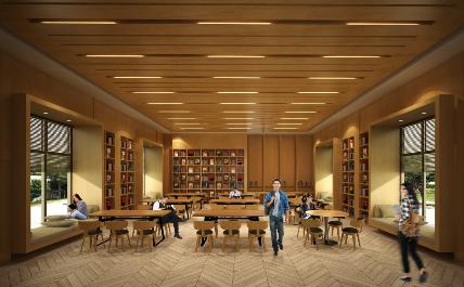 リモートワークも可能な図書室