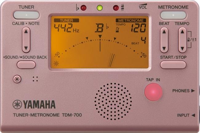 ヤマハ チューナーメトロノーム 『TDM-700P』ピンク 価格:4,000円(税抜)