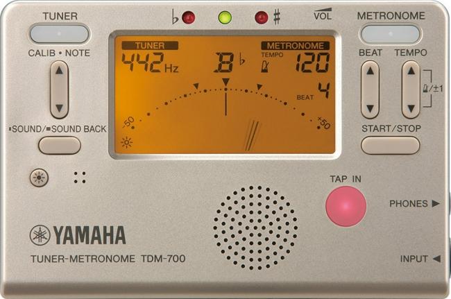 ヤマハ チューナーメトロノーム 『TDM-700G』ゴールド 価格:4,000円(税抜)
