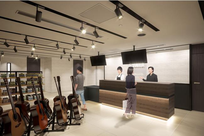 イメージ図 「ヤマハ銀座店」 地下1階 ギター・ドラム・シンセサイザー・音楽制作フロア