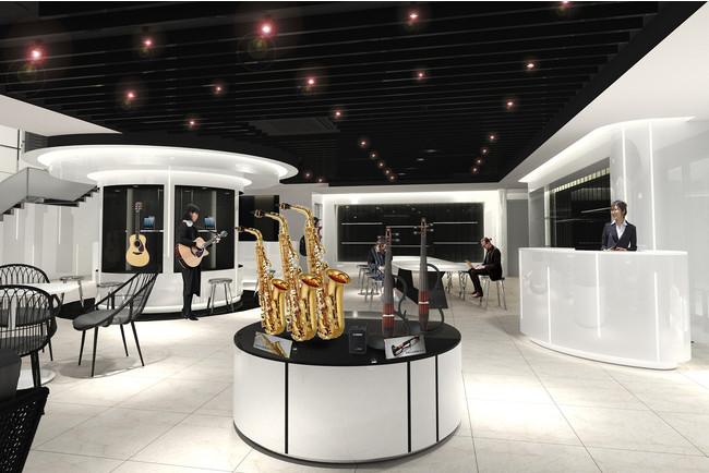 イメージ図 「ヤマハミュージック 名古屋店」 1階 ブランド体験フロア