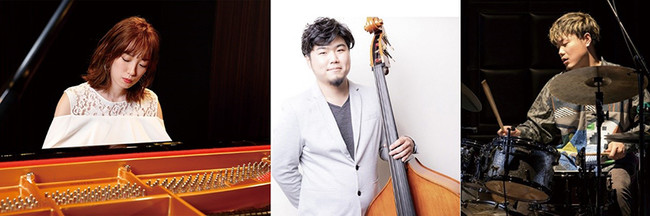 (左から)RINA(Pf)、佐藤潤一(B)、小田桐和寛(Dr)