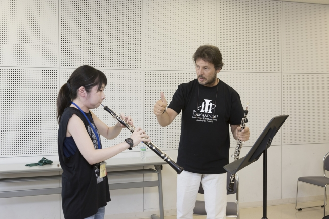 第22回浜松国際管楽器アカデミー ルカ・ヴィニャーリ氏によるレッスン