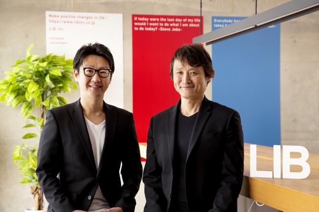 ▲代表取締役CEO 松本洋介(左)阿部達彦(右)