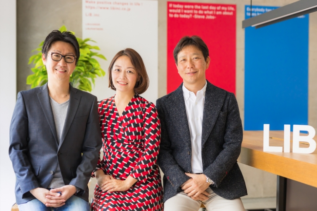 ▲代表取締役CEO 松本洋介(左)佐藤真希子氏(中央)高橋理人氏(右)
