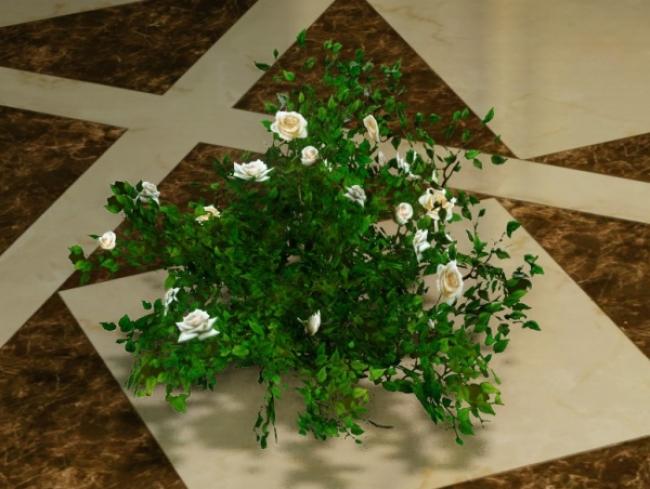 安息の花装飾