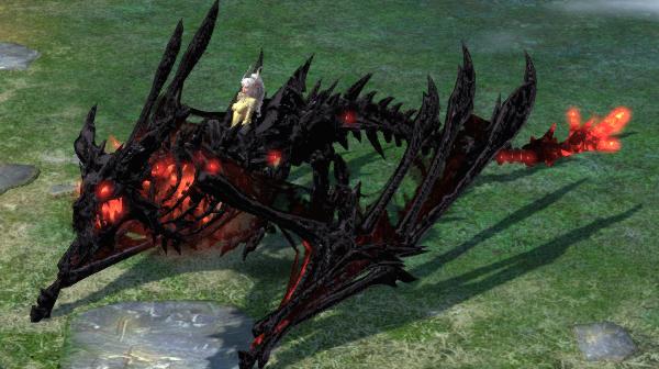 「闇商人」から獲得可能な「スカルドラゴン(紅黒)」