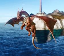 ▲滑空スキルを持つ新登場の騎乗ペット「竜の宝石ロゼア」
