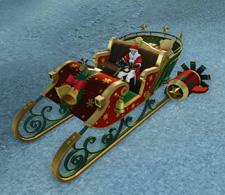 ▲そり型の車両「ミス・モミの木祭の雪車」